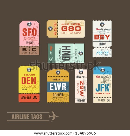 collection of vintage airline...