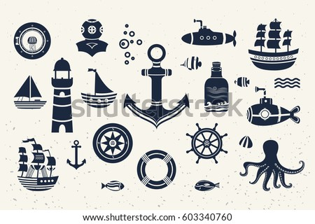 collection of vintage marine...