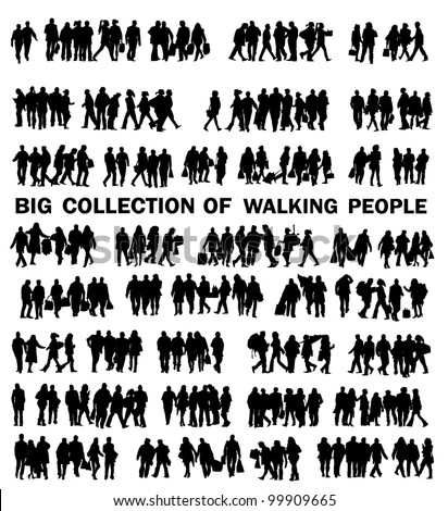 collection of walking people
