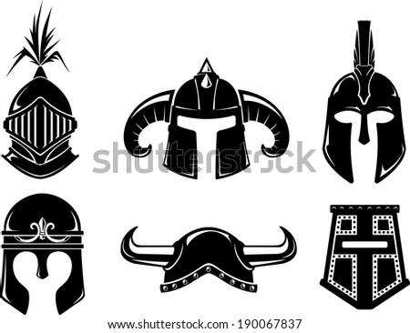 collection of warrior helmet