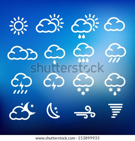 Collection of weather icons for web or print