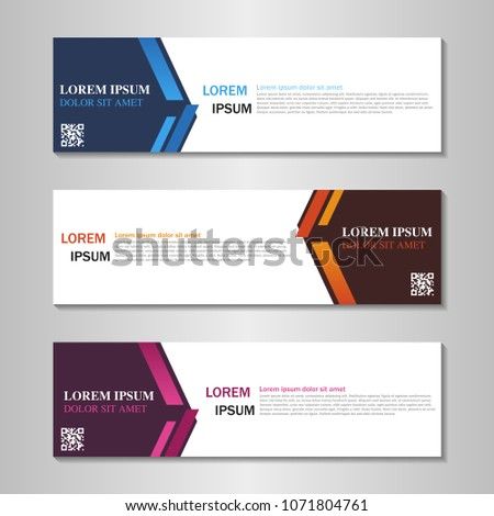 collection of web banner design template. #1071804761