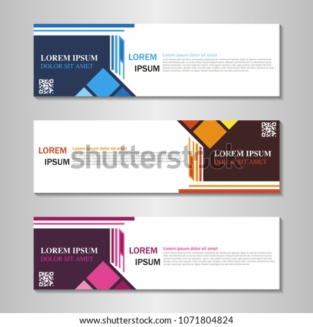 collection of web banner design template. #1071804824