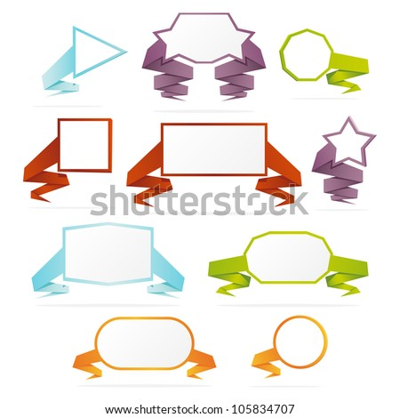 Collection of web banners. Vector illustration.