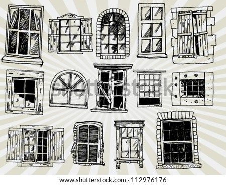Collection of Windows Hand Drawn