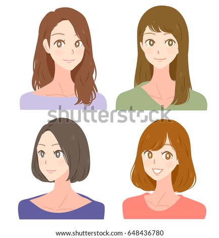 collection of women with