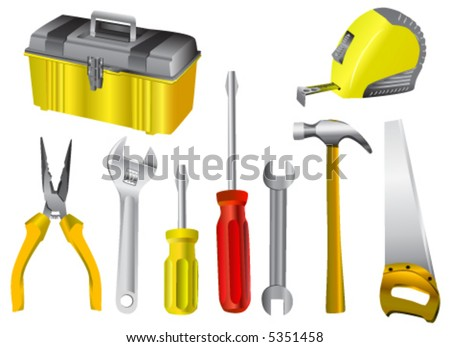 collection of work tool vector