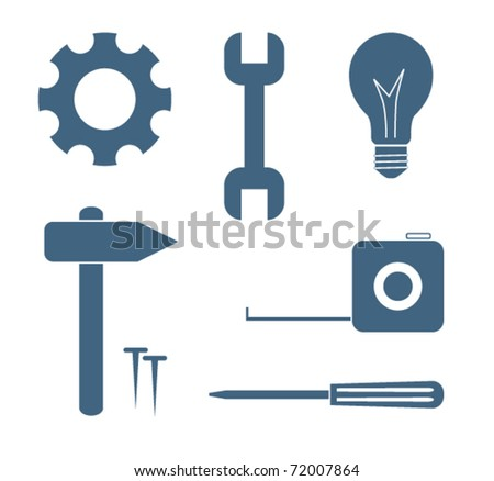 Collection of work tools