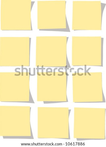 Collection of yellow notes. Colors can still be changed.