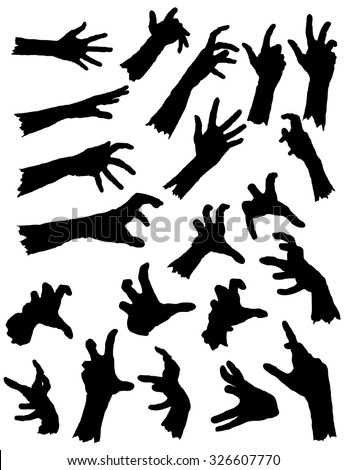 collection of zombie hands in