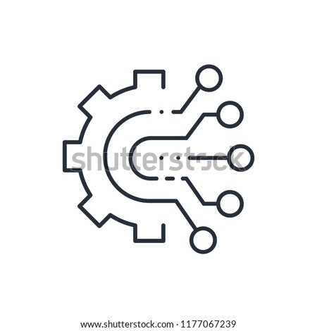 Collection, processing of multichannel information, icon isolated on white background, multichannel logo concept.
