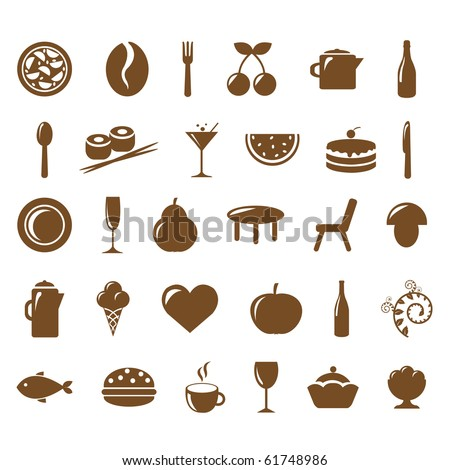 Collection Restaurant Icons, Vector Illustration