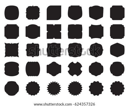 collection set of button, label, stamp, vector illustration