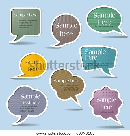 Collection Speech Bubbles, Isolated On White Background