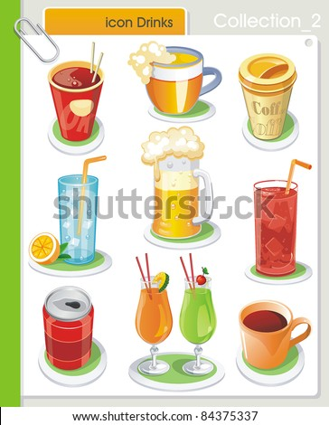 collection_2 vector drink icons