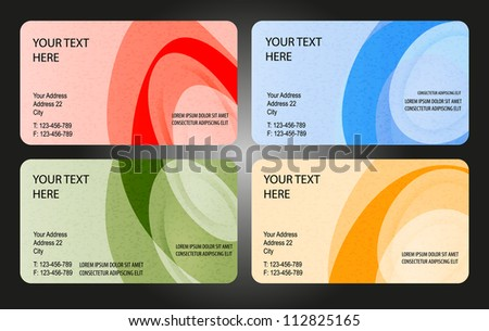 Computer visiting card templates download free vector art stock collection vector of modern color business card templates flashek Gallery