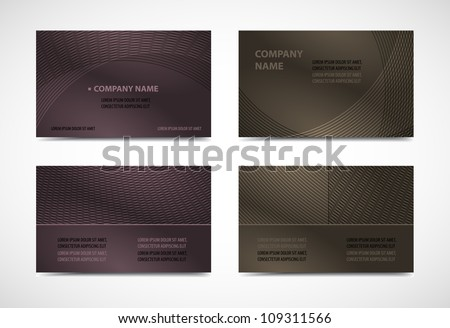 Computer Visiting Card Templates Download Free Vector Art Stock