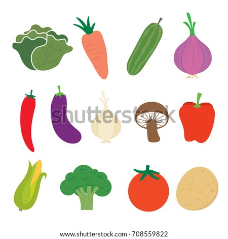 Collection vegetable sets #708559822