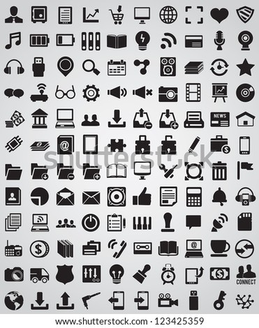 Collection web icons for design - vector icons