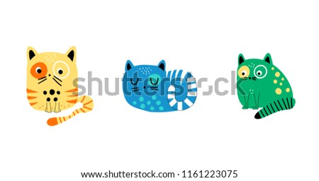Three kittens on white background - Download Free Vectors