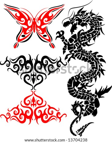 Stock Photo Collections of tribal tattoos
