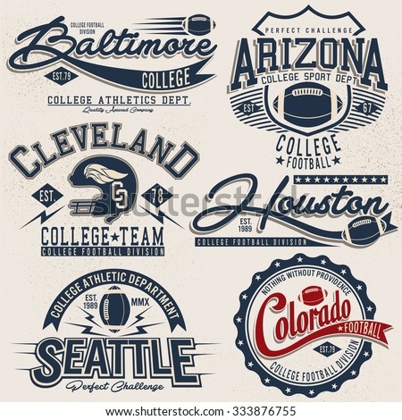 college graphics for t-shirts,vector logo set,college graphics for t-shirt