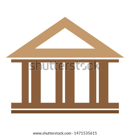 college icon. flat illustration of college - vector icon. college sign symbol