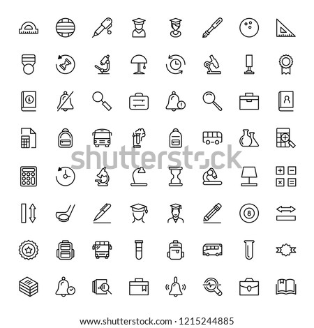 College icon set. Collection of high quality black outline logo for web site design and mobile apps. Vector illustration on a white background.