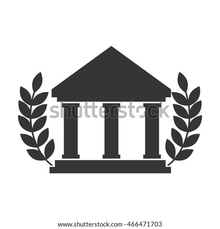 college icon university education wreaths academy academic vector graphic isolated and flat illustration