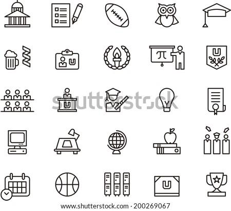 College icons