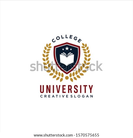 College logo design template. Vector illustration . University College Logo Badges Emblems Signs Stock Vector . College Campus Logo .