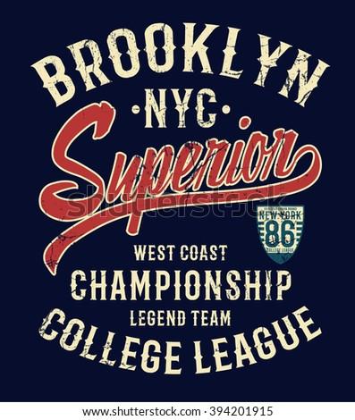 college new york typography  t
