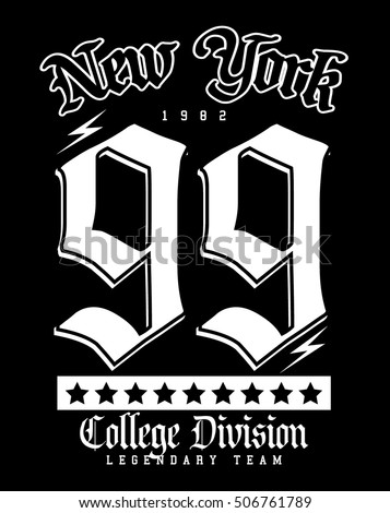 college new york typography  t