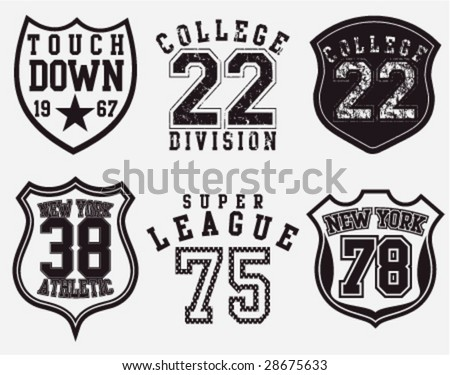 COLLEGE DESIGN EMBROIDERY LOGO