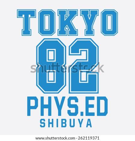 college sport tokyo typography