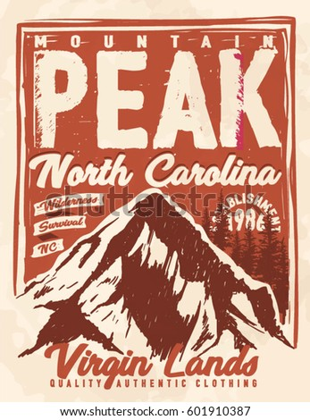 college. trekking. vintage tee print design. camping and outdoor adventure vintage emblems.