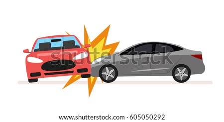 collision of cars car crash