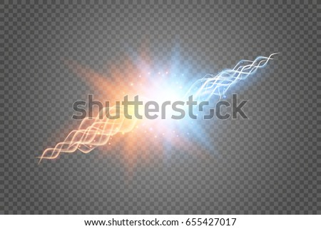 collision of two forces with