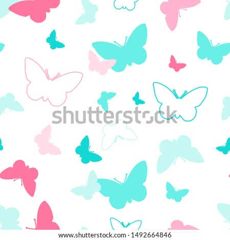 coloful butterfly seamless