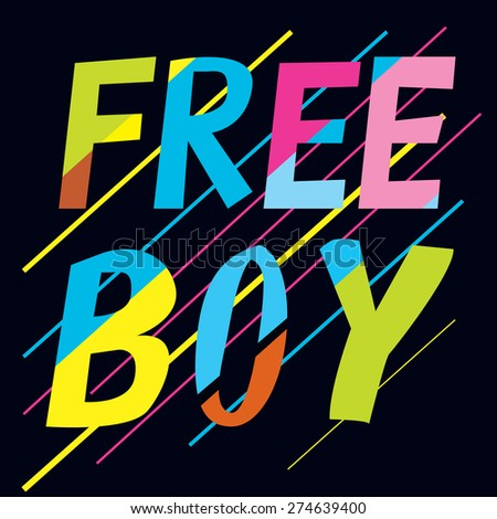 coloful free boy tee design