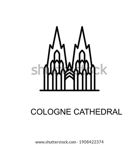 Cologne Cathedral, Cologne, Germany,  landmark icon in vector. Logotype Photo stock ©