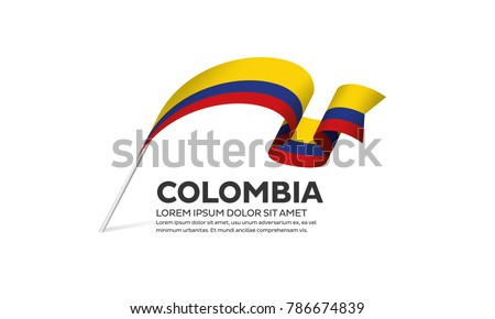 Colombia flag on a white background Stock photo ©