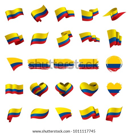 Colombia flag, vector illustration Stock photo ©