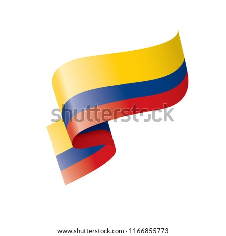 Colombia flag, vector illustration on a white background Stock photo ©
