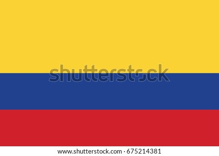 Colombia National Flag. Vector.