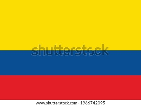 Colombia national  flag vector illustration Stock photo ©