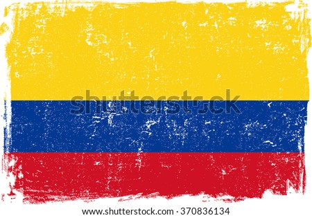 colombia vector grunge flag