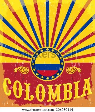 colombia vintage patriotic