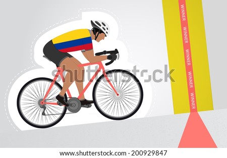 colombian cyclist riding