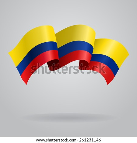 colombian waving flag vector